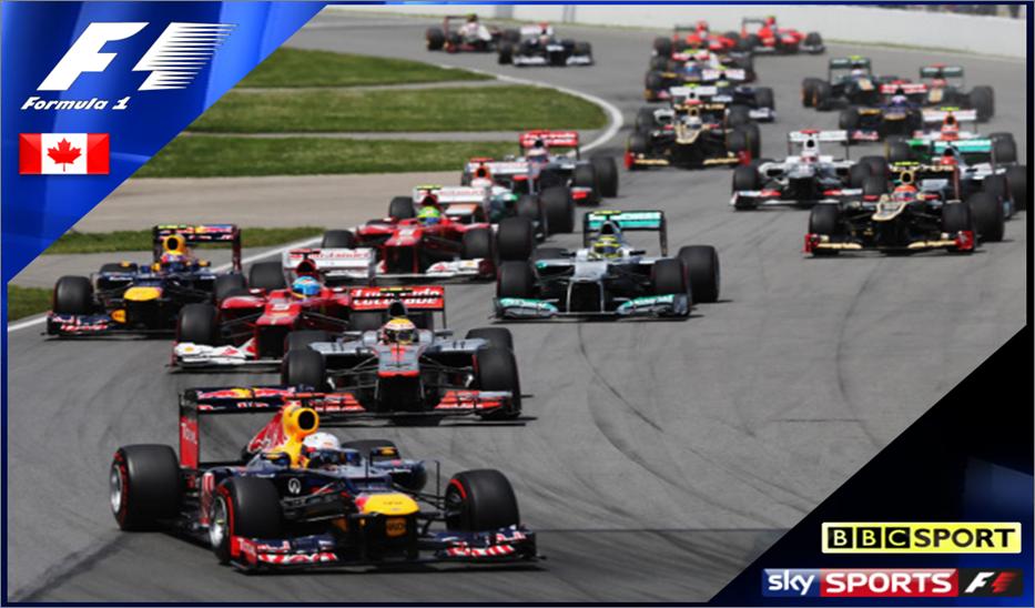 Canadian Grand Prix 2013 – Live on BBC One & Sky Sports F1