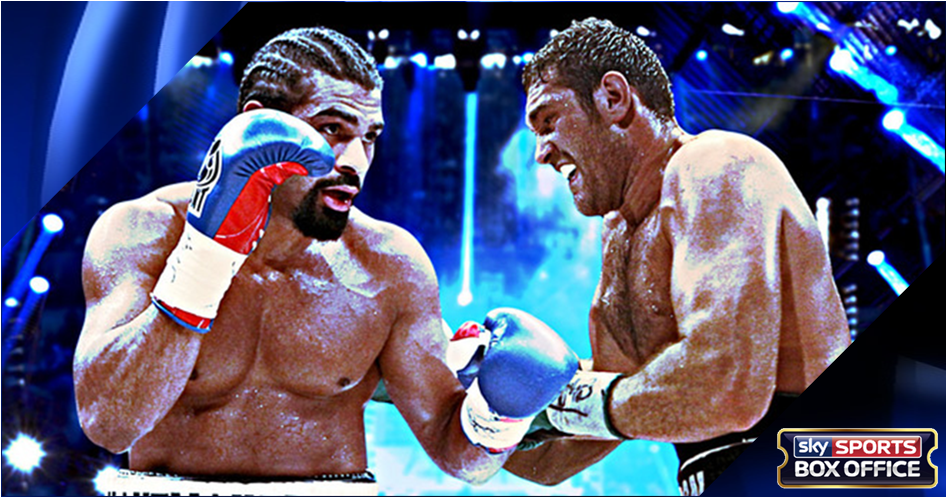 Haye v Fury live on Sky Sports Box Office