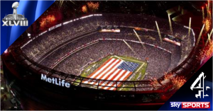 NFL Super Bowl XLVIII live on Channel 4 & Sky Sports