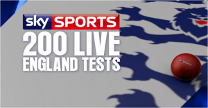 Sky Sports marks 200 not out with England
