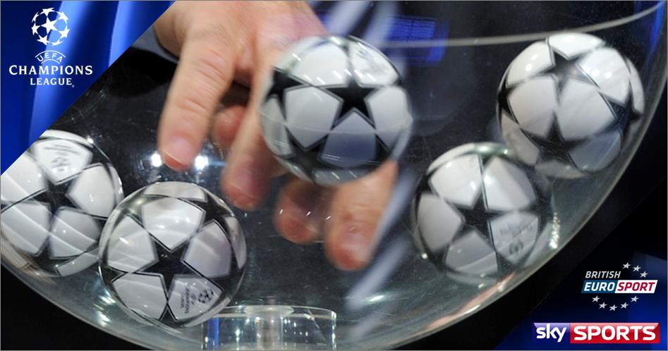 uefa champions league last 16 draw on sky eurosport sport on the box sport on the box