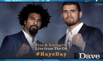 David Haye returns to UKTV's Dave on May 21