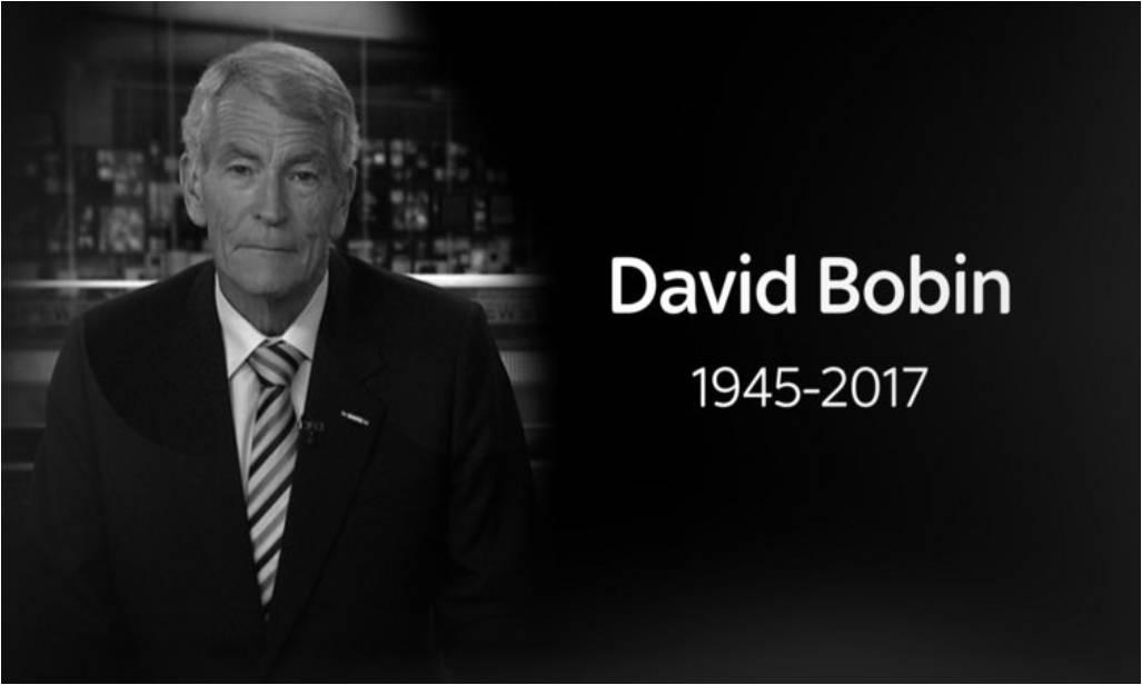 Former Sky Sports presenter David Bobin dies aged 71