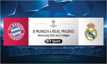 Bayern Munich v Real Madrid: Free live stream via btsport.com