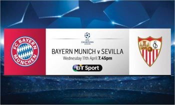 Bayern Munich v Sevilla: Free live stream via BT Sport website