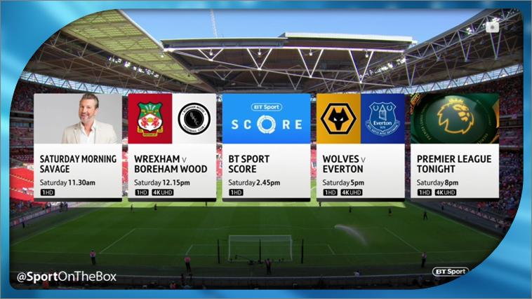 Bt Sport Confirms New Season Line Up Sport On The Box