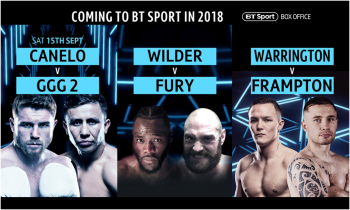 Canelo v GGG rematch to launch BT Sport Box Office