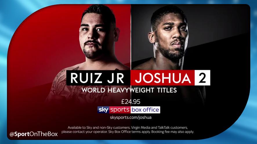 Ruiz Jr V Joshua 2 Live On Sky Sports Box Office Sport On The Box